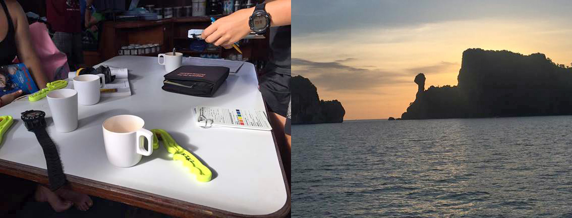 padi advanced course with night diving in krabi
