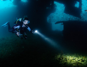 king cruiser wreck diving krabi ao nang thailand
